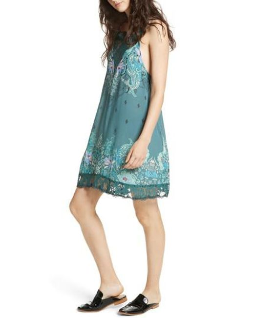 Free People | Green Who's Sorry Now Print Slipdress | Lyst