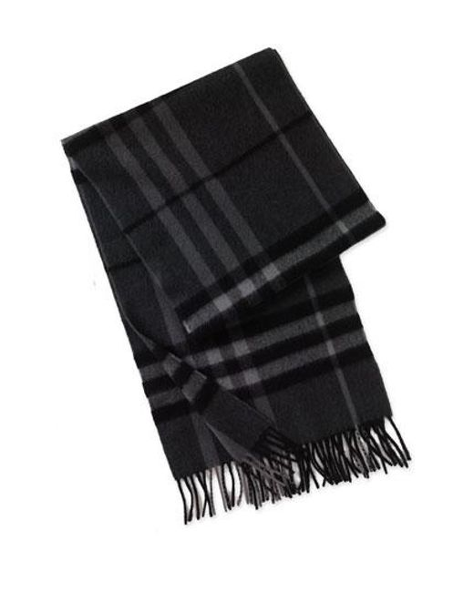 Burberry | Gray Heritage Check Cashmere Scarf for Men | Lyst