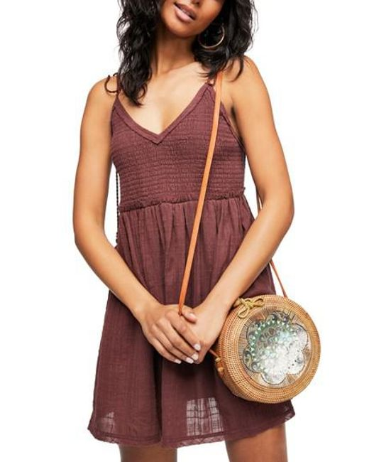 Free People - Purple Endless Summer By Sun Drenched Minidress - Lyst