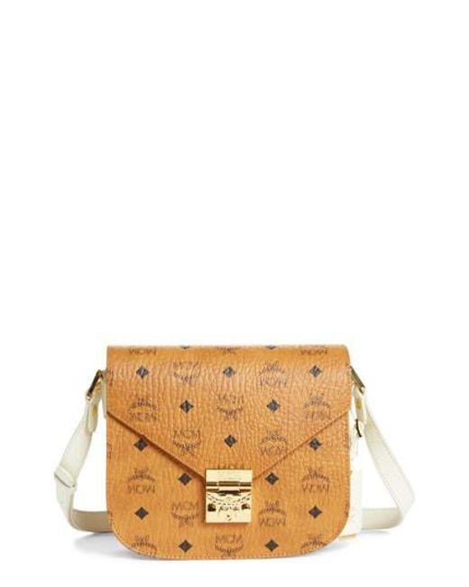 MCM - Brown Patricia Visetos Small Shoulder Bag In Cognac Pvc - Lyst 0799f5f4f72d2