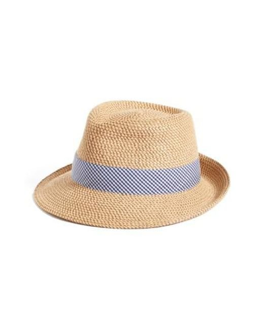 Eric Javits | Blue 'classic' Squishee Packable Fedora Sun Hat | Lyst