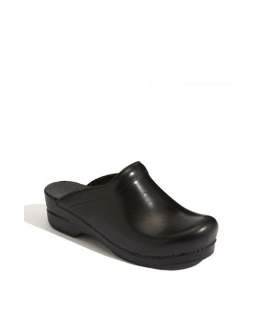 Dansko | Black 'sonja' Leather Clog | Lyst
