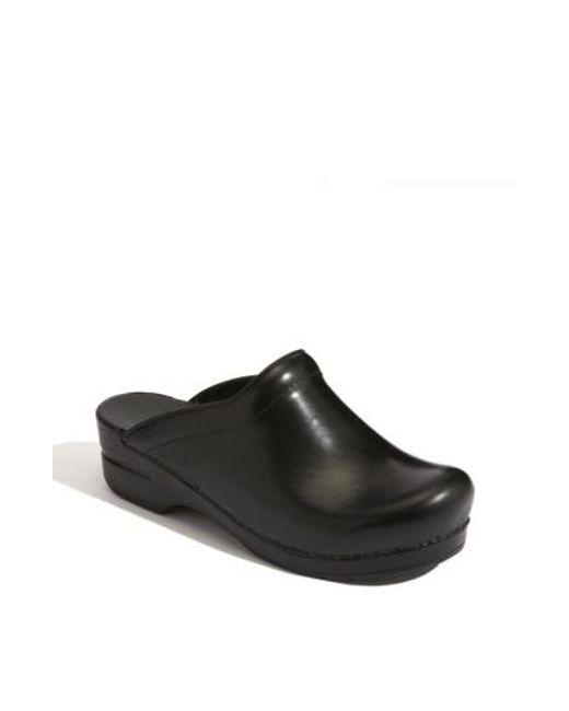 Dansko | Black 'sonja' Leather Clog | Lyst