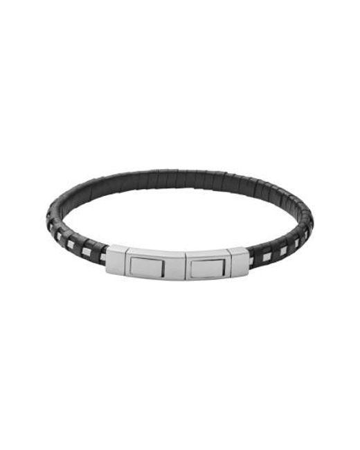 Skagen | Metallic Venthir Leather Wrapped Bracelet | Lyst