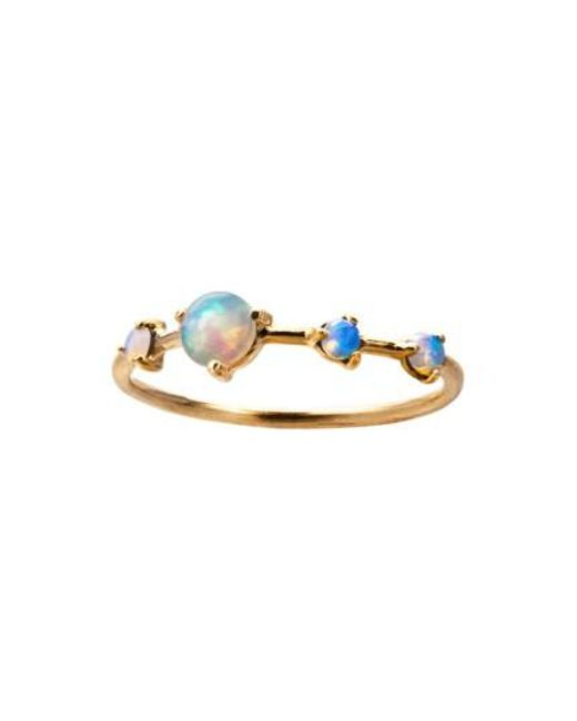 Wwake | Metallic Counting Collection Large Four Step Opal Ring | Lyst