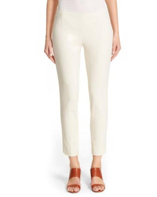 Lafayette 148 New York - White 'stanton' Slim Leg Ankle Pants - Lyst