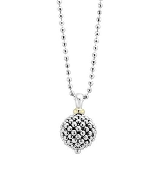 Lagos | Metallic Sterling Silver Ball Long Pendant Necklace | Lyst