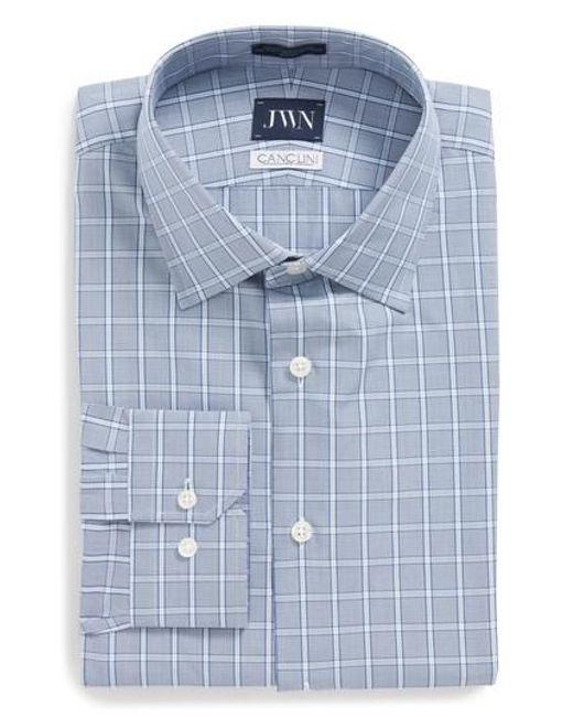 John W. Nordstrom® Trim Fit Check Dress Shirt Clearance Inexpensive RYrVQ