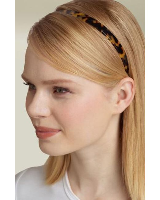 France Luxe   Brown Skinny Headband   Lyst