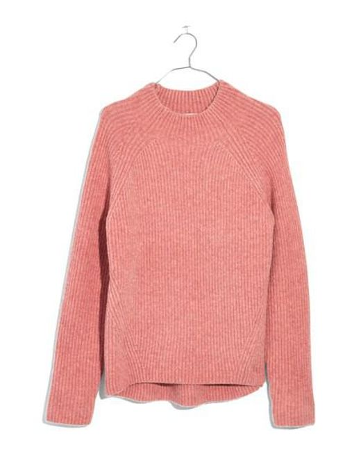 Madewell Northfield Mock Neck Sweater in Pink | Lyst