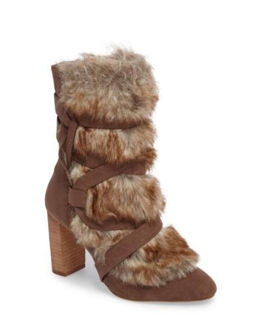Charles David - Brown Alberta Faux Fur Boot - Lyst