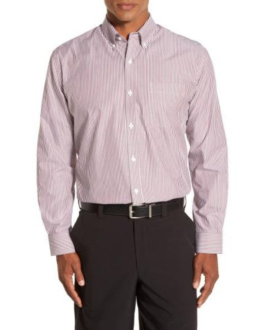Cutter & Buck | Multicolor 'epic Easy Care' Regular Fit Mini Bengal Stripe Sport Shirt for Men | Lyst