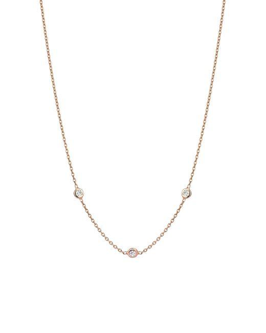 Kismet by Milka - Metallic Solitaire Diamond Necklace - Lyst