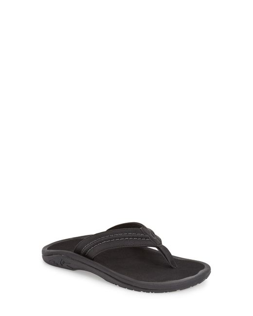 Olukai - Black Hokua Flip Flop for Men - Lyst