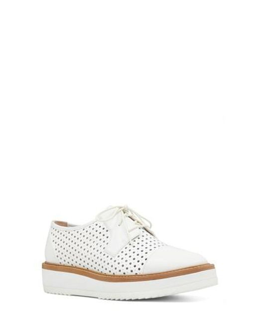 Nine West - White Verwin Perforated Cap Toe Derby - Lyst
