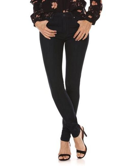 PAIGE - Black Transcend - Hoxton High Waist Ultra Skinny Jeans - Lyst
