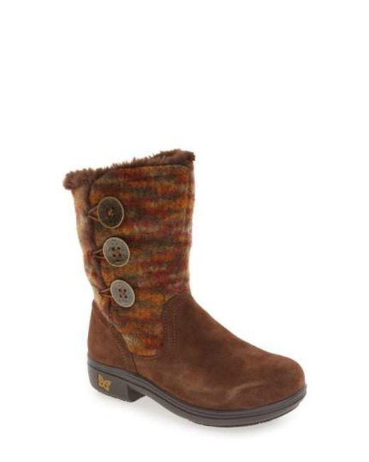 Alegria | Brown 'nanook' Suede Boot | Lyst