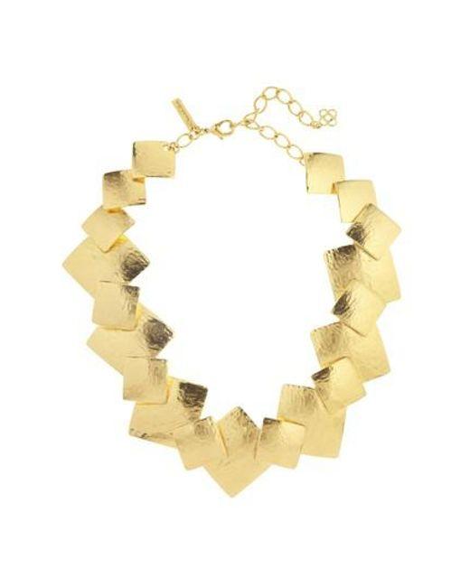Oscar de la Renta - Metallic Geo Collage Collar Necklace - Lyst
