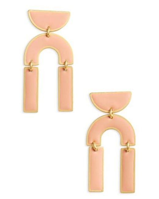 Madewell   Metallic Modernism Half-drop Earrings   Lyst
