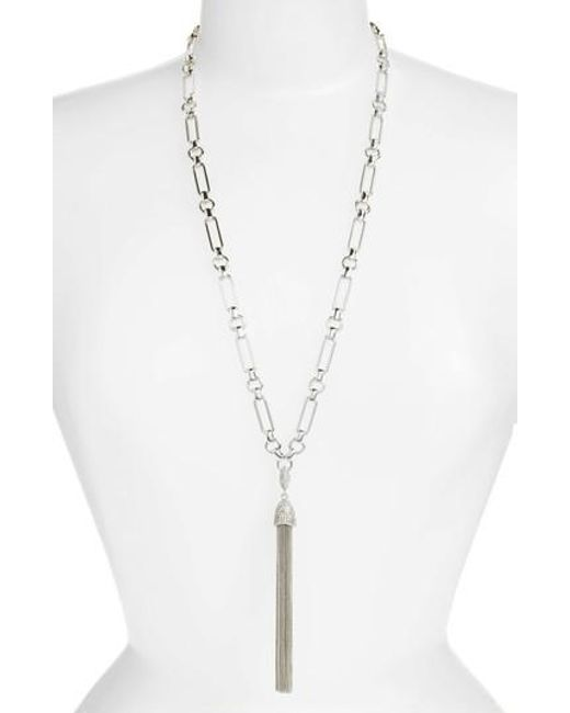 Vince Camuto   Metallic Chain Tassel Y-necklace   Lyst