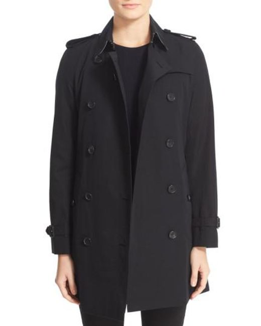 Burberry - Black 'kensington' Double Breasted Trench Coat - Lyst