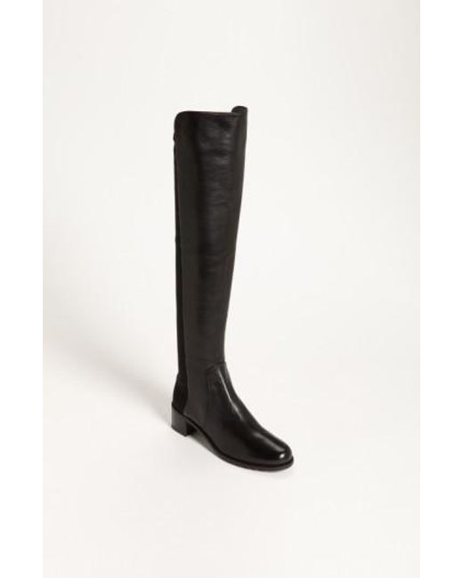 Stuart Weitzman | Black 'reserve' Over The Knee Boot | Lyst