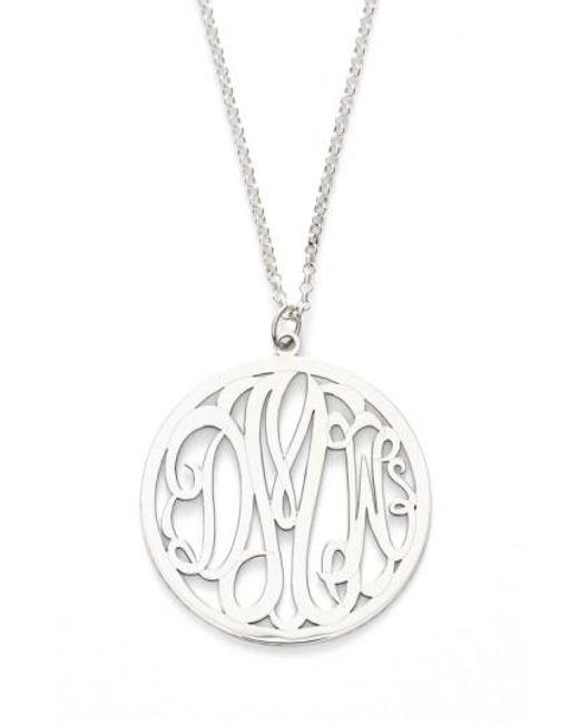 Argento Vivo | Metallic Personalized 3-letter Monogram Necklace | Lyst