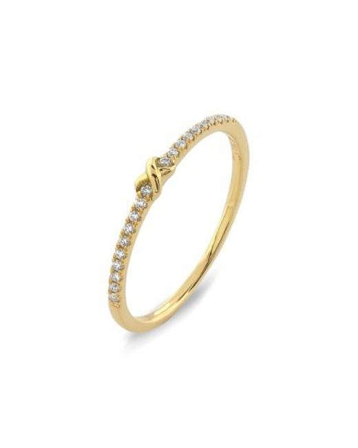 Bony Levy | Pink Stackable Knot Pave Diamond Ring (nordstrom Exclusive) | Lyst
