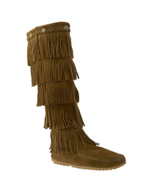 Minnetonka | Brown '5 Layer Fringe' Boot | Lyst