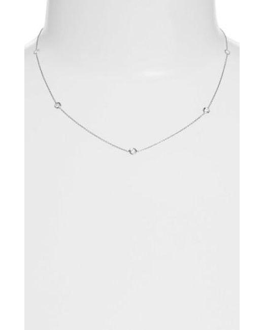 Roberto Coin - Metallic Diamond Station Necklace - Lyst