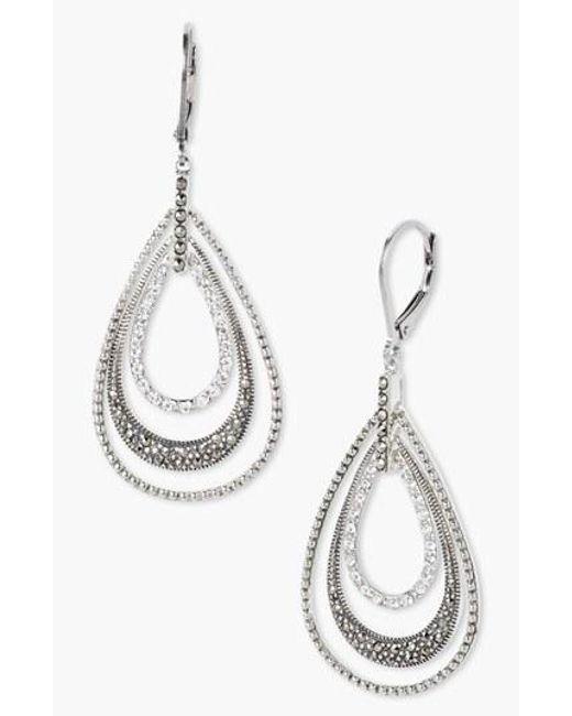 Judith Jack | Metallic Orbital Triple Teardrop Hoop Earrings | Lyst