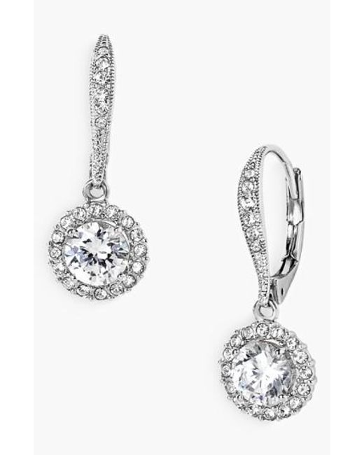 Nadri | Metallic Cubic Zirconia Drop Earrings | Lyst