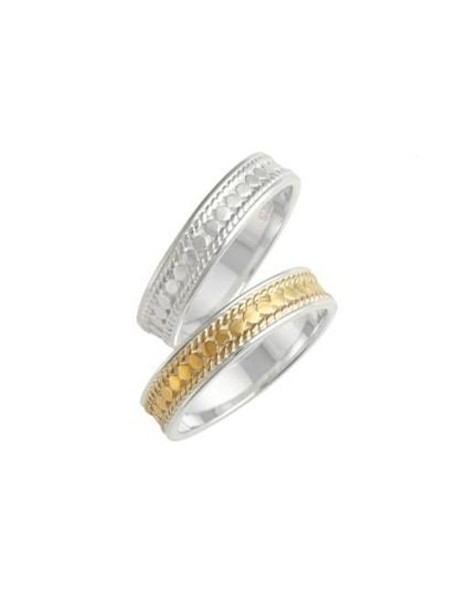 Anna Beck | Metallic Two-tone Stacking Rings (set Of 2) | Lyst