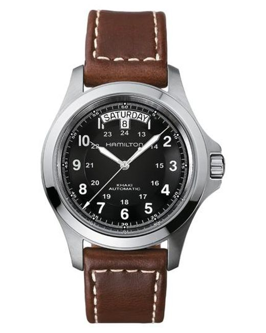 Hamilton   Metallic Khaki King Automatic Leather Strap Watch   Lyst