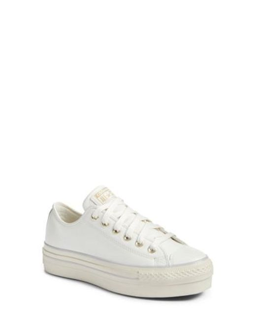 Converse   White Chuck Taylor All Star Platform Sneaker   Lyst