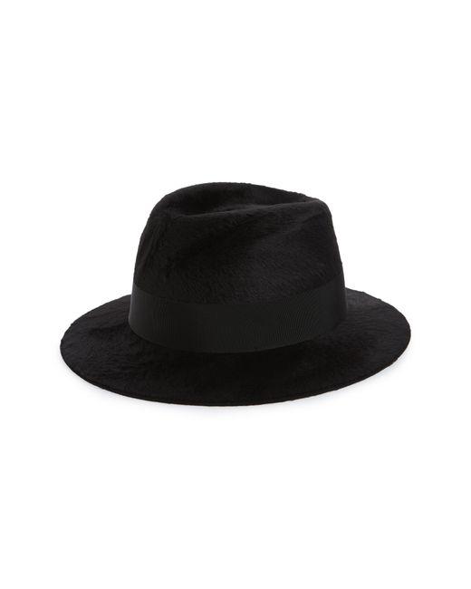 Saint Laurent Black Fur Felt Fedora