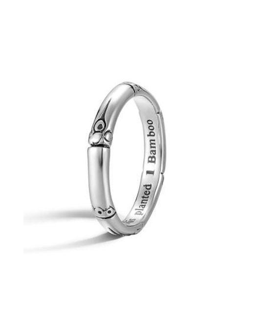 John Hardy | Metallic 'bamboo' Silver Ring | Lyst