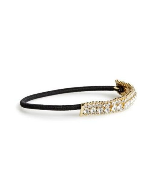 Cara | Metallic Crystal & Ball Chain Ponytail Holder | Lyst