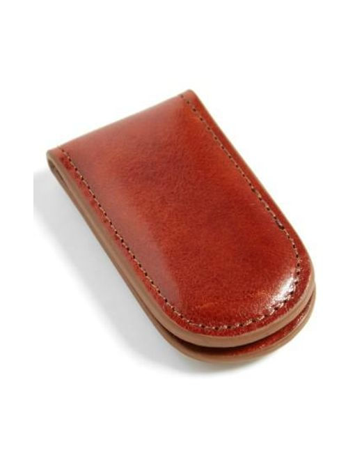 Bosca | Brown Leather Money Clip for Men | Lyst