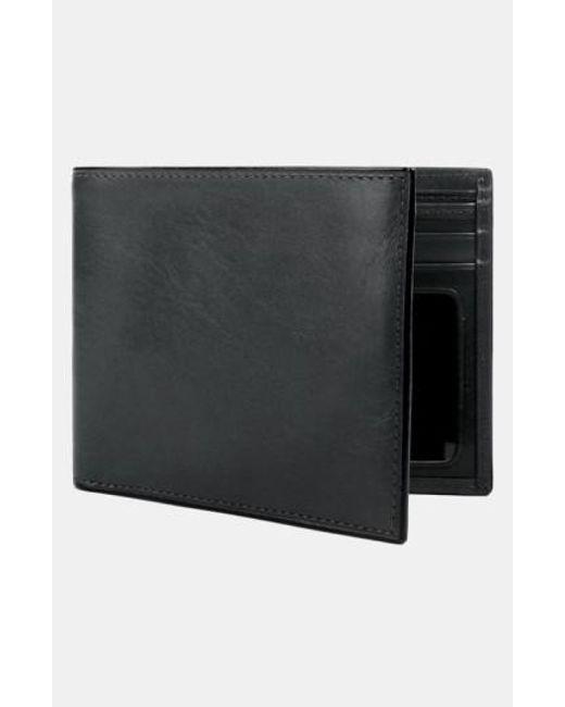 Bosca | Black Leather Bifold Wallet for Men | Lyst