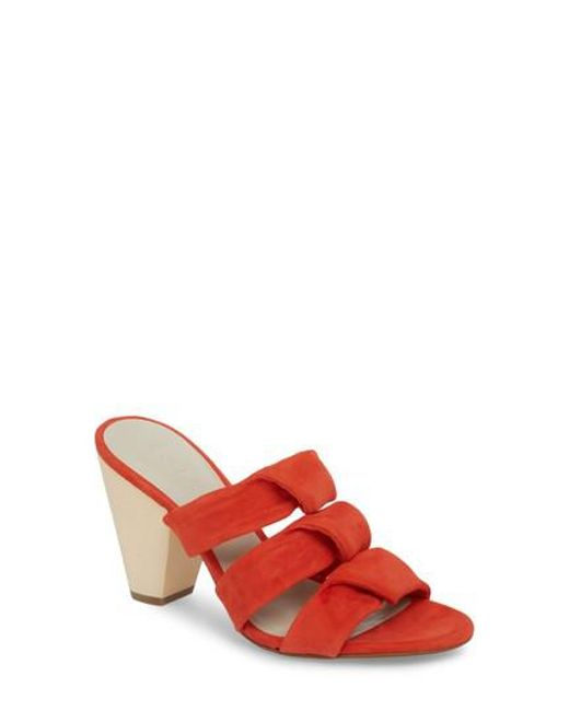 1.STATE - Red Aisha Strappy Mule - Lyst