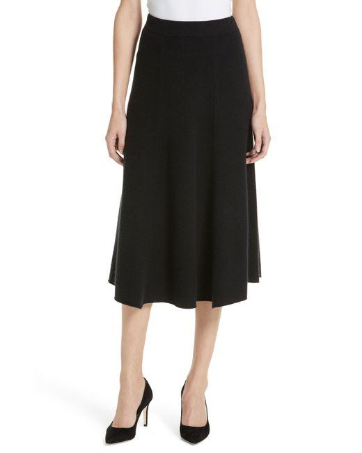 Nordstrom - Black Cashmere Midi Skirt - Lyst