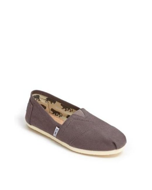 TOMS | Gray Classics Canvas Slip-on | Lyst