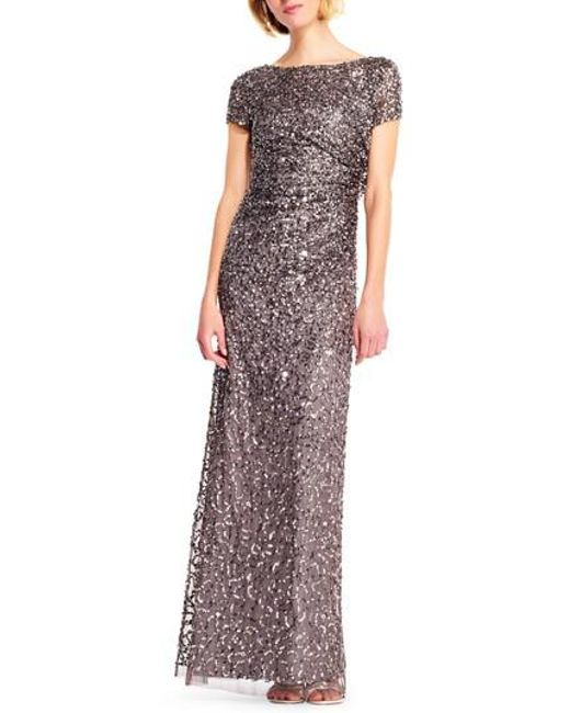Adrianna Papell   Multicolor Sequin Cowl Back Gown   Lyst