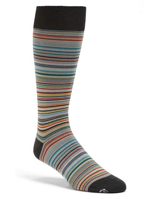 Paul Smith | Gray Multi Stripe Socks for Men | Lyst