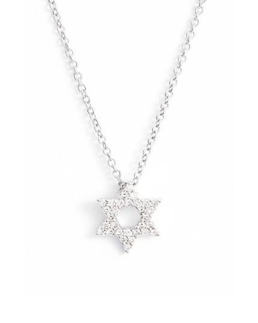 Bony Levy | Metallic Star Of David Diamond Pendant Necklace (nordstrom Exclusive) | Lyst