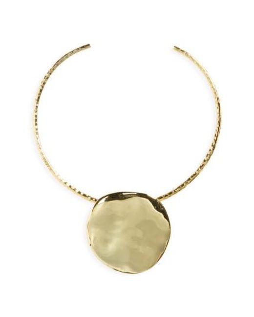 Gorjana   Metallic Chloe Pendant Collar Necklace   Lyst