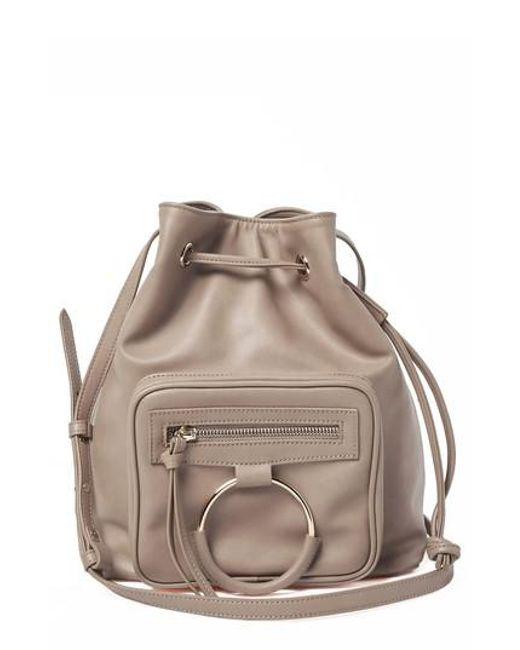Urban Originals - Gray Casual Affair Vegan Leather Bucket Bag - Lyst