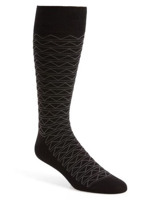 Calibrate | Black Zigzag Socks for Men | Lyst