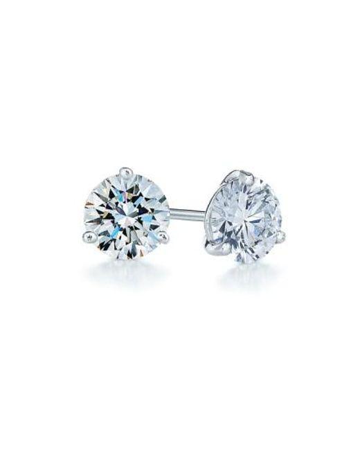 Kwiat | Metallic 0.75ct Tw Diamond & Platinum Stud Earrings | Lyst